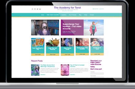 האקדמיה לטארוט - אתר תדמית ומכירה - קום סנטר בניית אתרים