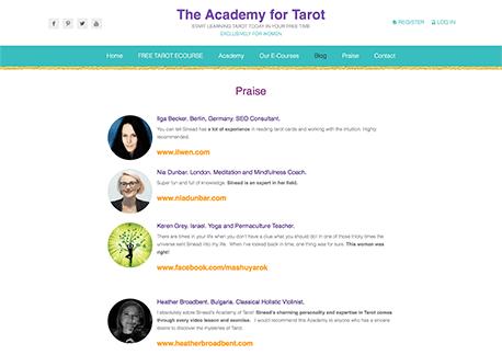 האקדמיה לטארוט | קום סנטר בניית אתרים