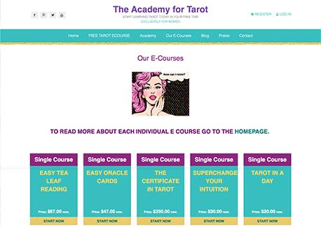 האקדמיה לטארוט | אתר תדמית ומכירה | קום סנטר בניית אתרים